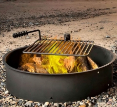 Fire ring with cooking grate