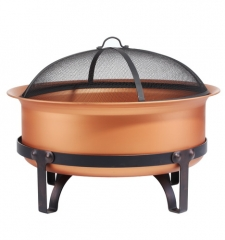 "29"" Extra Deep Steel Cauldron with Copper Finish"
