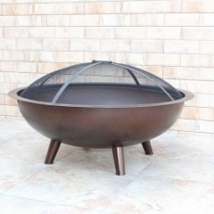 "33"" Outdoor Fire Pit Great Corten Steel Bronze Finish"