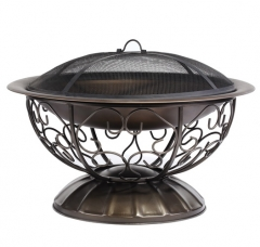 74cm ornate steel fire pit
