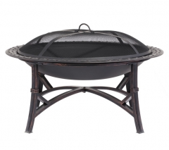 "29"" steel fire pit outdoor fire bowl round fire pit"