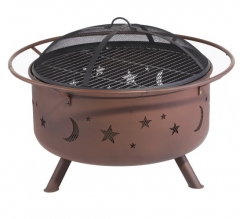 "29"" Galaxy Steel cauldron fire pit patio fire pit"