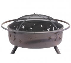 "42"" Galaxy steel cauldron fire pit Large fire pit"