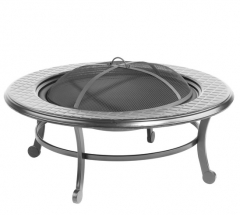 86cm steel fire pit table with cooking grill fire pit grill