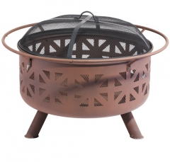 "30""-24"" outdoor fire pit cauldron wood burning fire pit"